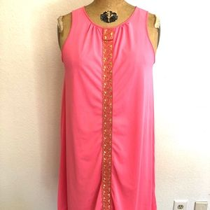 Vtg 60s Lorraine Pink Nightgown Sz Small